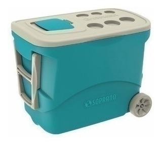 Caixa Térmica Grande 50l C Roda Tropical Azul Soprano 34417