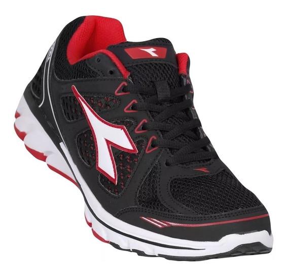Tênis Masculino Diadora Power Preto/vermelho Running 8822