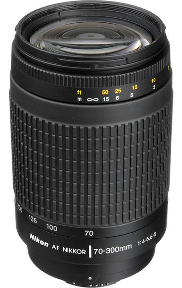 Lente Nikon Nikkor Af Zoom 70-300mm F/4-5.6g Objetiva Usada
