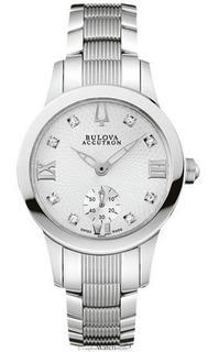 Reloj Bulova Accutron 63p01 Diamond Dama Suizo Agente Oficia