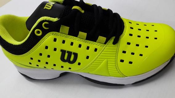 Zapatillas Wilson Set Mens Tenis Padel Squash Envio Amarillo