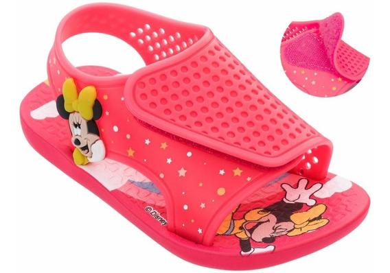 Sandália Ipanema Com Velcro Baby Disney Minnie Mouse