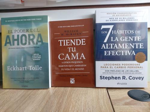 Imagen 1 de 1 de El Poder Del Ahora + Tiende Tu Cama + 7 Habitos De La Gente