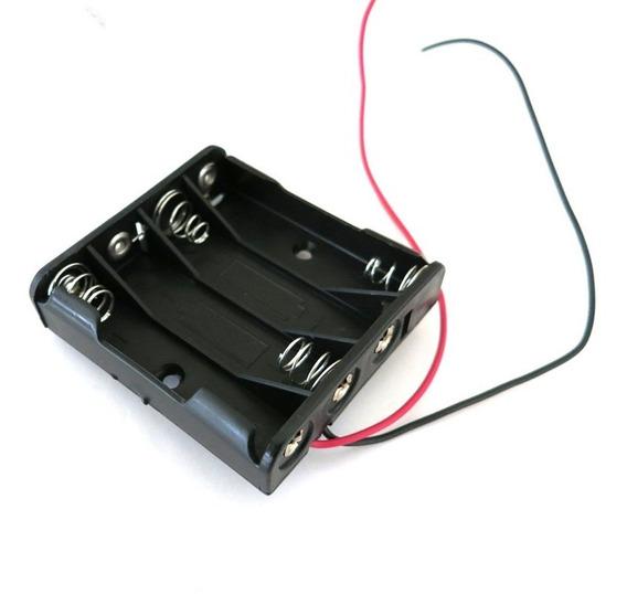 Suporte Para 4 Baterias Pilhas Aaa Palito 1,5v - Frete Grátis Carta Registrada B024