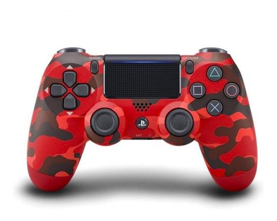 Controle Ps4 100% Original Vermelho Camuflado Joystick Sony