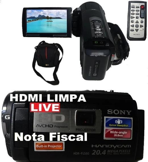 Filmadora Sony Hdr-pj580v Entrada Microfone Hdmi Limpa Live