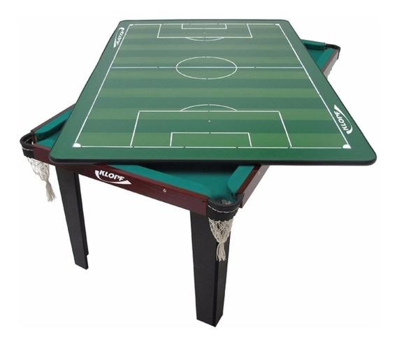 Mesa De Jogo Klopf 4 Em 1 Sinuca Ping Pong Futebol Botão1036