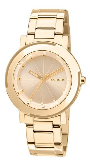 Relógio Technos Elegance Feminino 2035ffr/4x Dourado + Nf-e