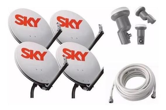 Antena Ku 60cm Com Lnbf Duplo