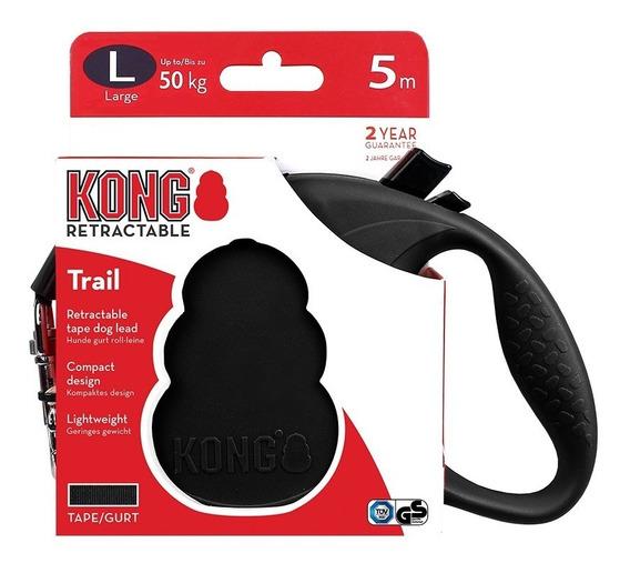 Guia Retrátil Kong Trail Grande Cachorro 50 Kg 5 Metros