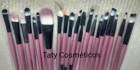 Kit Pinceis Maquiagem Profissional Com 20 Peças Pincel