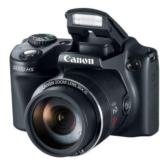 Câmera Canon Powershot Sx510 Hs Com Cartão 16 Gb