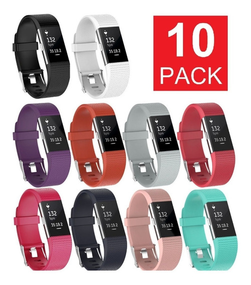 Fitbit Charge 2 Solo Repuesto Pulseras Pack 10 Set Promocion