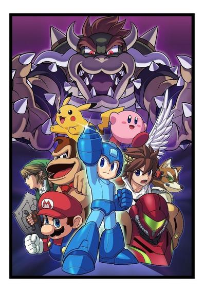 Quadro Nintendo Games Classicos Arte Moldura 42x29cm