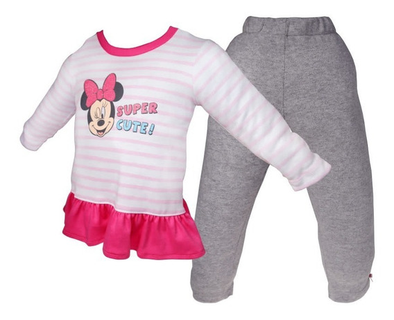 Pijama Bb Ideal Disney Pantalon Playera Interlok Minnie