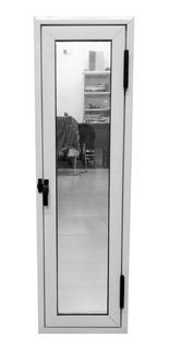 Raja Aluminio Blanco 30x100 Vidrio Entero 4mm