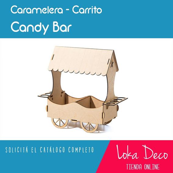 Candy Bar Carreta Caramelera Con Division Fibrofácil Oferta
