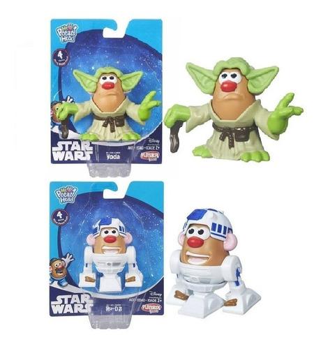 Boneco Sr. Cabeça De Batata Star Wars. Mestre Yoda E Robô R2
