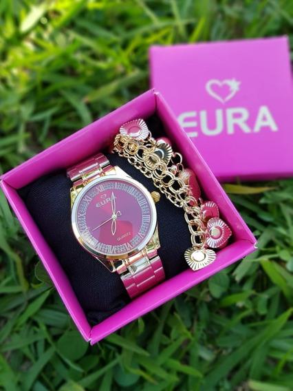6 Relógios Femininos C/pulseira E Caixinha Da Marca Original