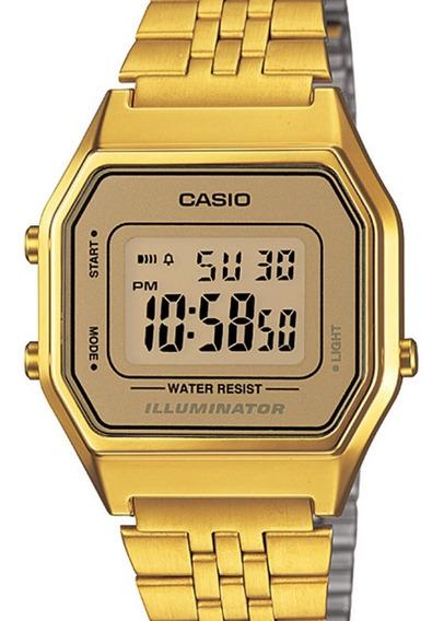 Relógio Casio Feminino Vintage Dourado - La680wga-9df