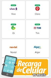 Crédito Celular Online 15 Reais