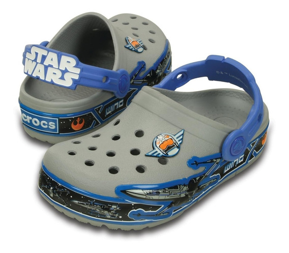 Crocs Lights Star Wars X-wing Clog + Brinde 2 Pins Led