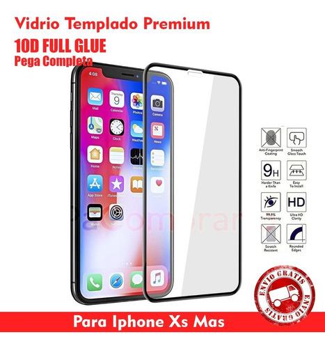 Vidrio Templado 10d Full Glue iPhone XS Mas