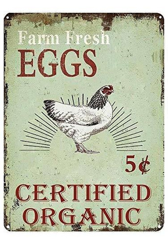 Lasmine Lata Signos Granja Huevos Frescos Certificado Organi