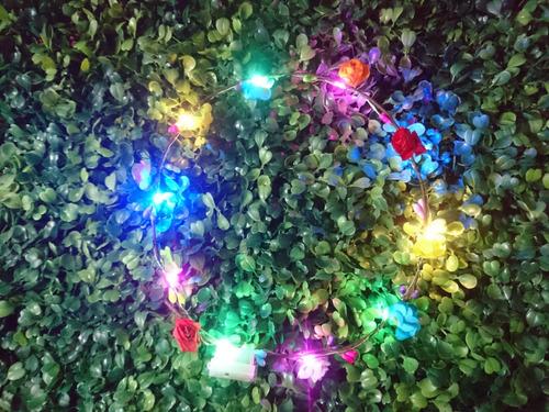 Corona De Flores Luces Led Cotillón