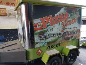 Trailer Food Truck - Pizza E Hot Dog - Carreta