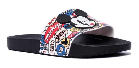 Chinelo Feminino Zaxy Slide Mickey Mouse