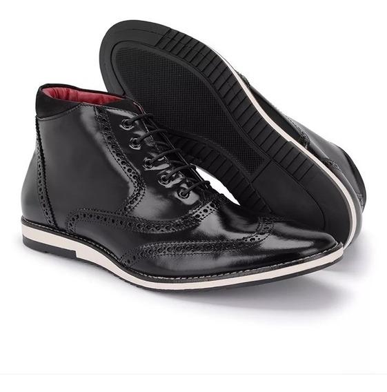 Sapato Original Oxford Brogue Casual Sapatenis Masculino