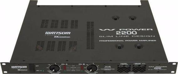Amplificador De Potência W Power 2200 Slim Ciclotron 110/220