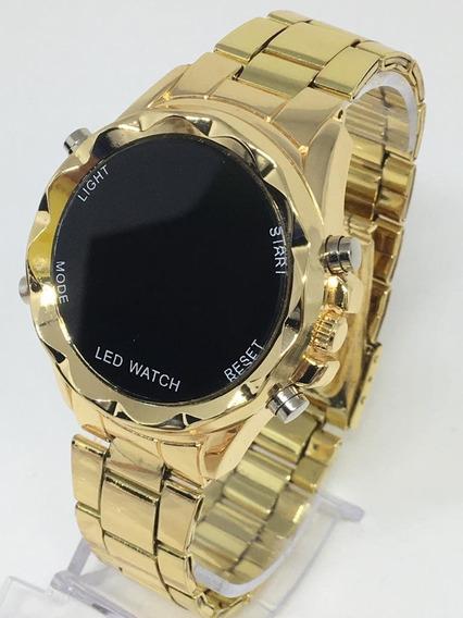 Relógio Feminino Digital Dourado Prata Rose Lindo!!