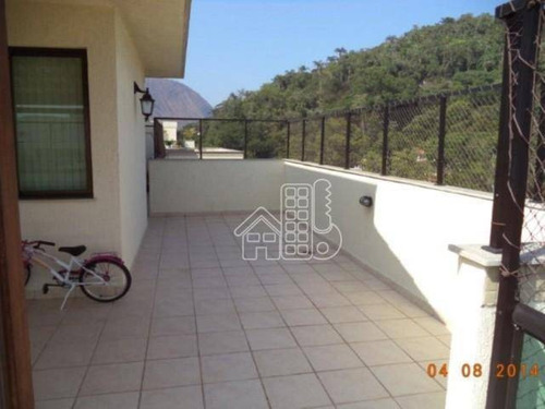 Cobertura Com 4 Dormitórios À Venda, 285 M² Por R$ 1.750.000,00 - Itaipu - Niterói/rj - Co0396