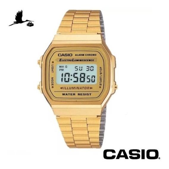 Relógio Casio Moda Vintage Dourado Ouro Original C/ Garantia