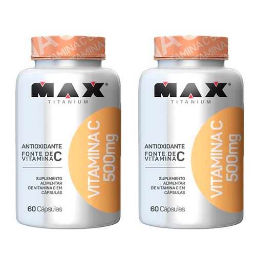 Vitamina C 500mg - 2x 60 Cápsulas - Max Titanium