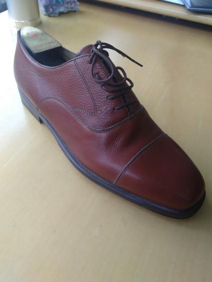 Zapato Abotinado Cuero Hecho A Mano Importado Italia Nuevo