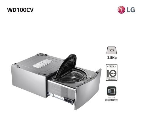 Lavarropas Twinwash Mini LG 3,5kg Wd100cv - Garantía Oficial