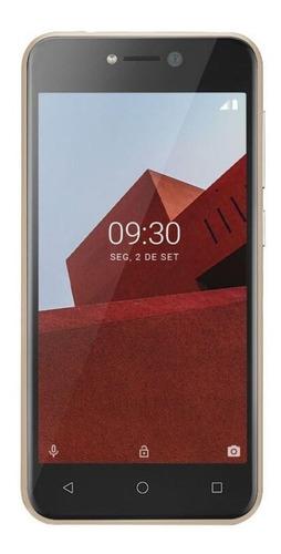 Celular Smartphone Multilaser e P9102 16gb Dourado - Dual Chip