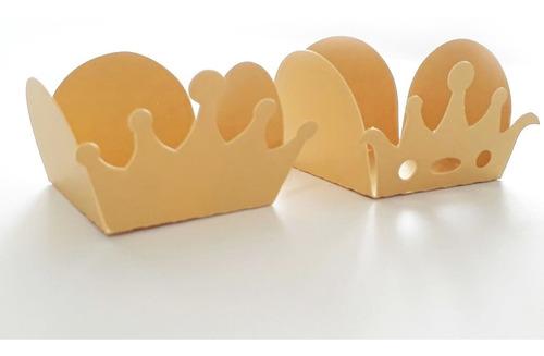 Forminha Para Doce 4 Pétalas Coroa Tema Príncipe