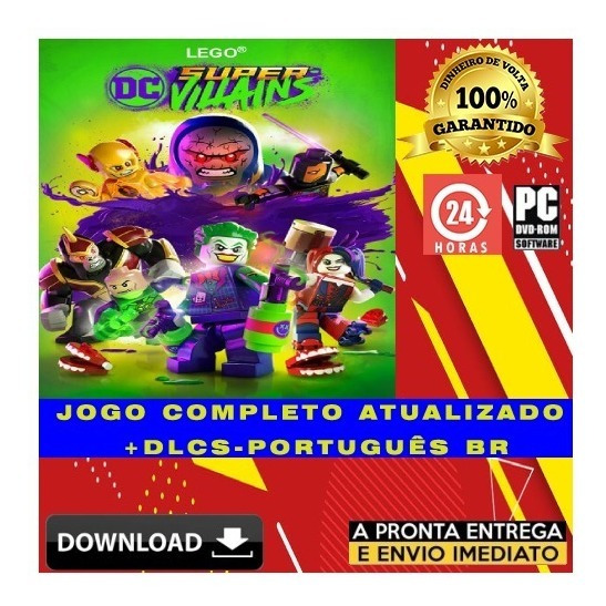 Lego Dc Super Villains - Pc - Digital + Todas Dlcs + Brinde