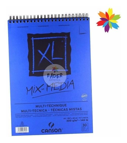 Canson Xl Mix Media 300 Gr A3 G Medio 30 Hojas Barrio Norte