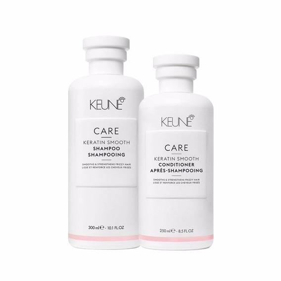 Keune Care Keratin Smooth Sh 300ml + Cond 250ml + Brinde