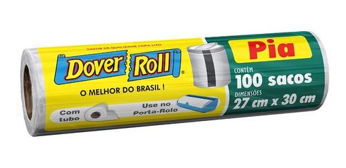 Saco Para Lixo De Pia Branco Dover Roll 27x30cm Dover