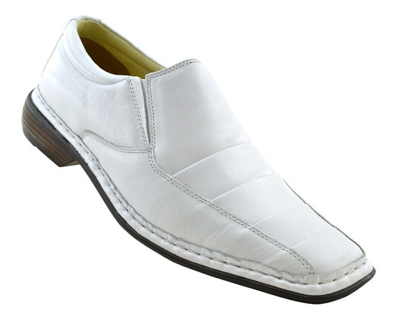 Sapato Masculino 3023 Comfort Branco Doctor Shoes