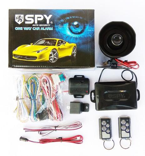 Combo Alarma Para Vehículo Spy Mas Bloqueo Central 4 Puertas