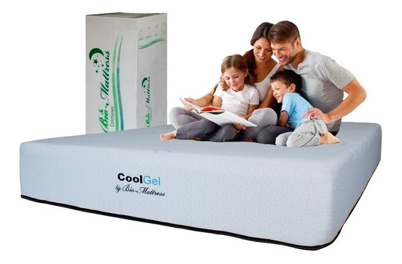 Colchon King Size Cool-gel Memory Foam Gel Bio Mattress