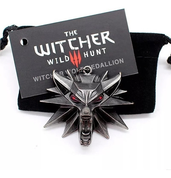 Colar The Witcher 3 Wild Hunt Geralt Rivia Pingente De Lobo