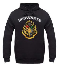 Blusa Moletom Casaco Hogwarts Harry Potter Canguru Unissex